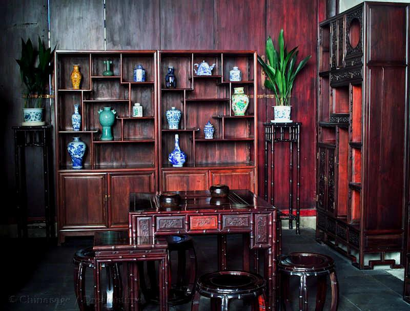 Qing dynasty, furniture, Hangzhou, Zhejiang, house