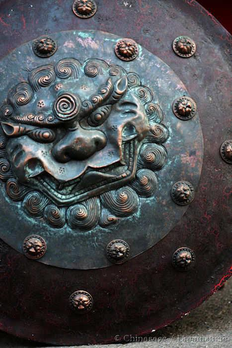Shang dynasty, bronze, shield