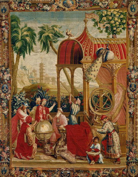 chinoiserie, tapestry