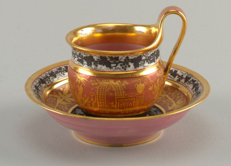 chinoiserie, cup and saucer