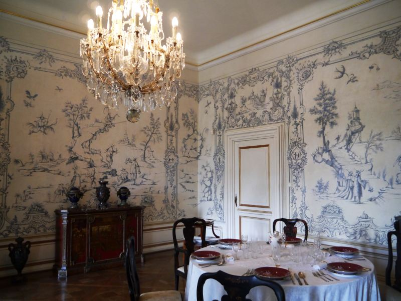 chinoiserie, wallpaper, Chinese room