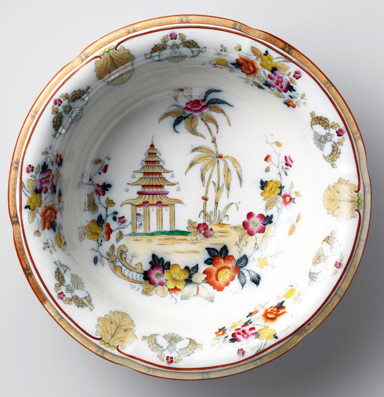 chinoiserie, washing bowl, pottery
