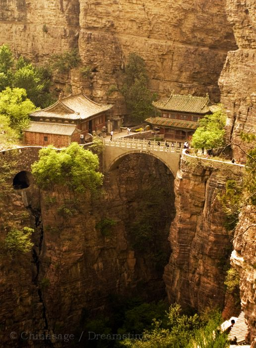 Hebei, temple, canyon