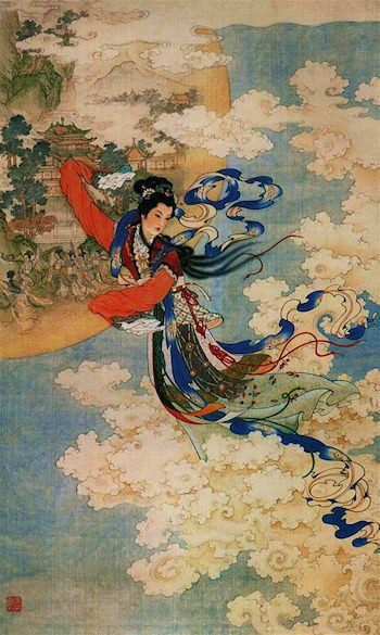 chang'e;moon goddess;Ren Shuai Ying