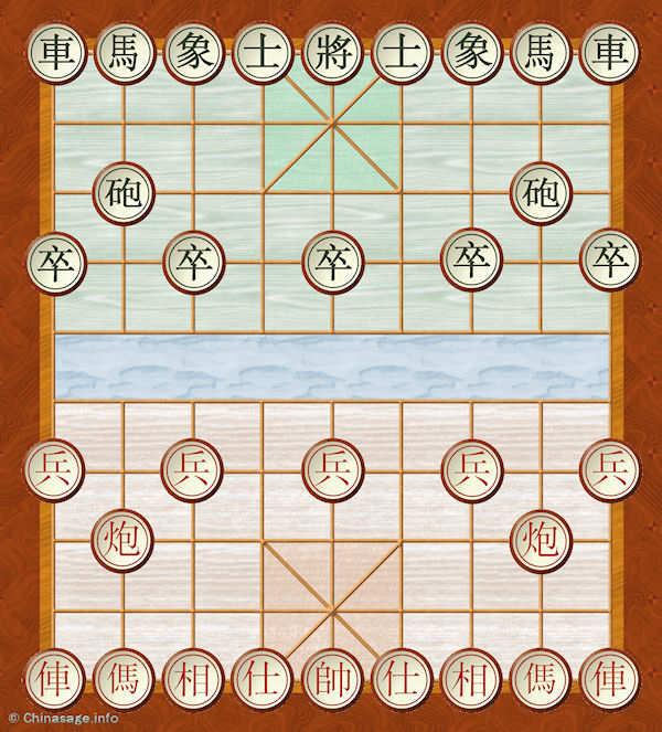 chinese chess initial positions