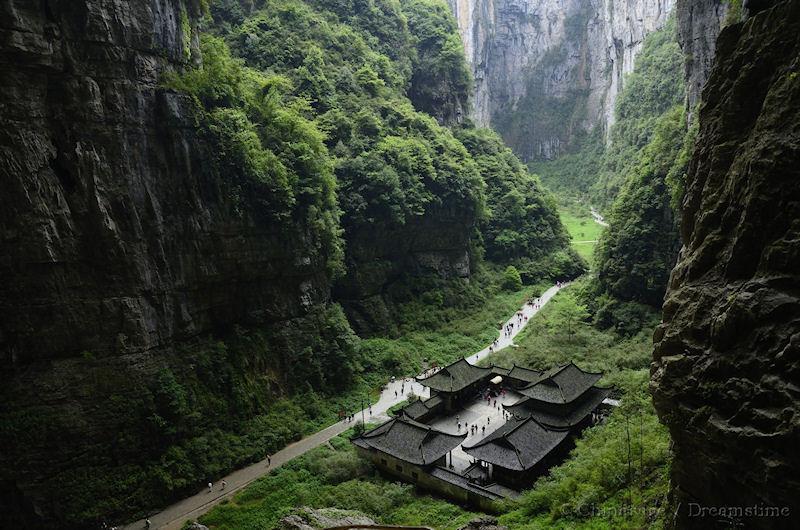 Chongqing, kloof, tempel