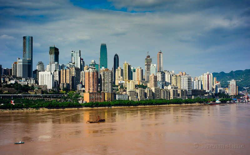 Chongqing, Yangzi River, modern housing