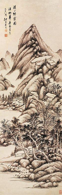 mountain, painting, china
