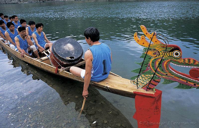Dragon boat festival, Guangxi, people, boat