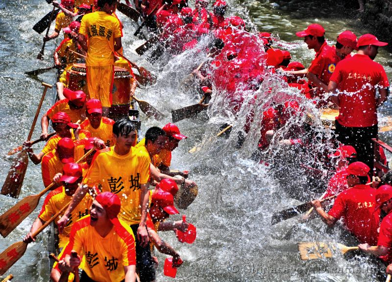 Dragon boat festival, Foshan, Guangdong, people