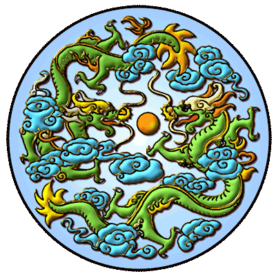 dragon,moon