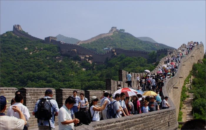 great wall, crowds