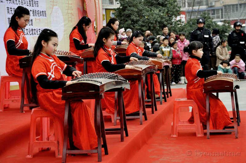 music, guzheng, people