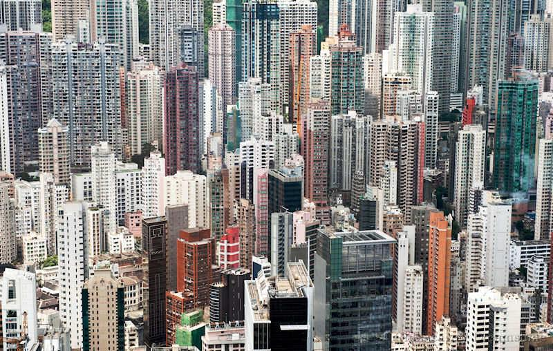 Hong Kong, modern housing, view