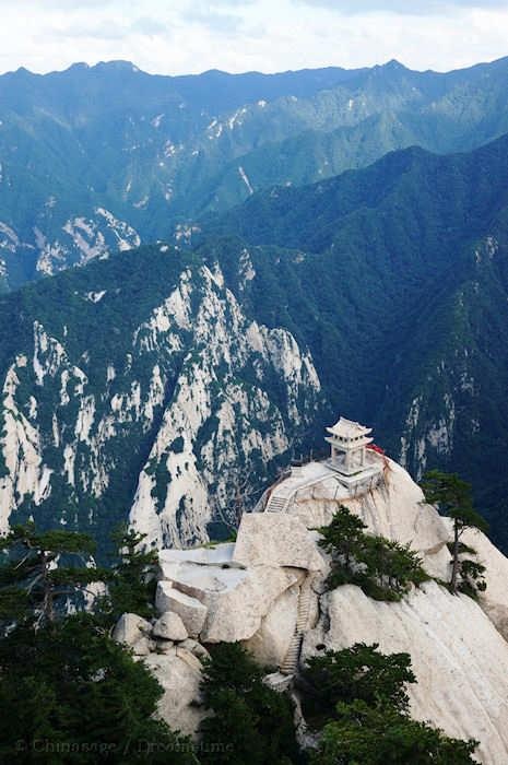 Shaanxi, Weinan, mountains, pavilion