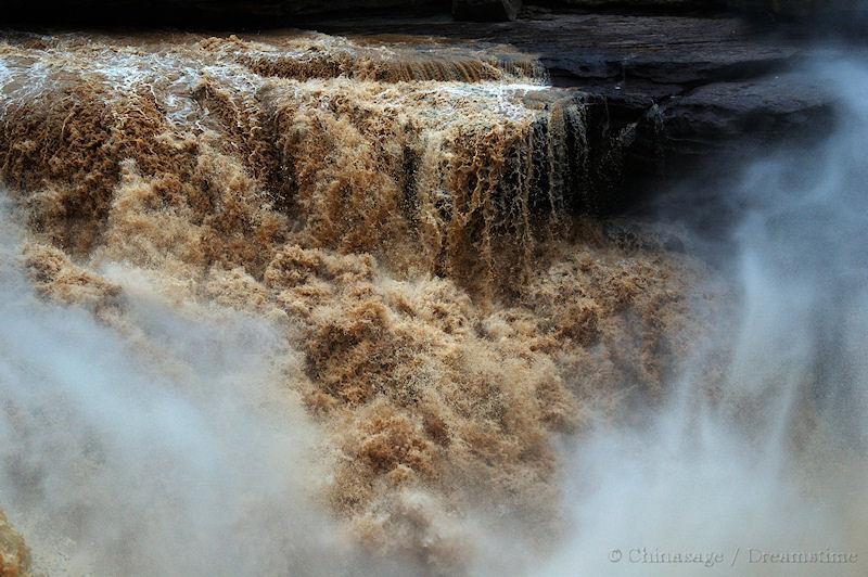 Shaanxi, waterfall, Yellow river