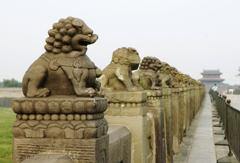 bridge, Ming dynasty, Marco Polo, lion