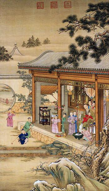 Emperor Qianlong's Pleasure during Snowy Weather. c. 1736-1738. From ...