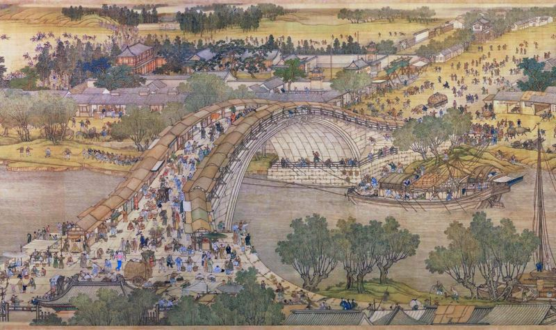 kaifeng, qingming, scroll