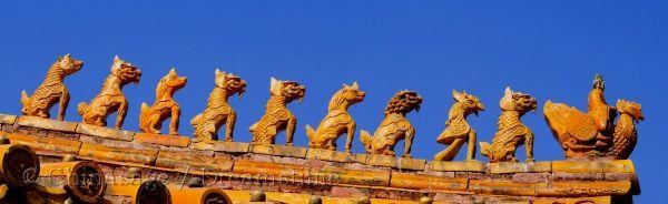 Forbidden City, Beijing, roof, architecture
