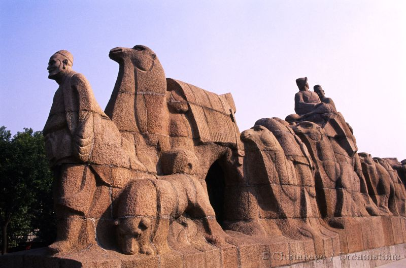 silk road, Xian, sculpture