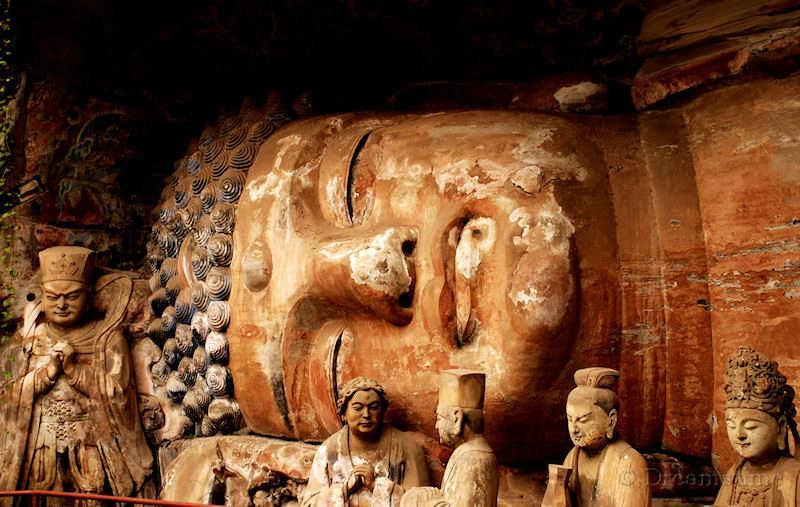 Dazu, boeddha, godheid, Chongqing