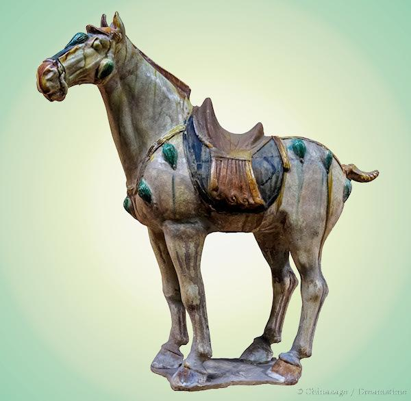 Tang dynasty, horse, sculpture