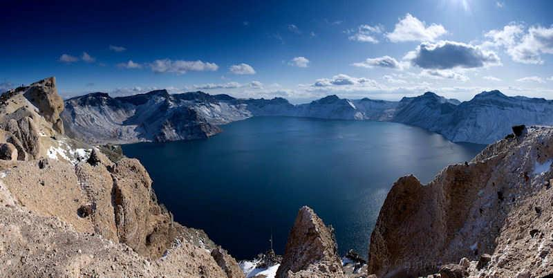 Jilin, Changbai, lake, view