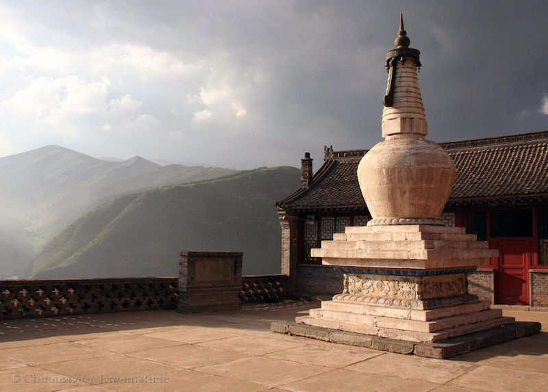 Buddhism , stupa, mountains, Shanxi