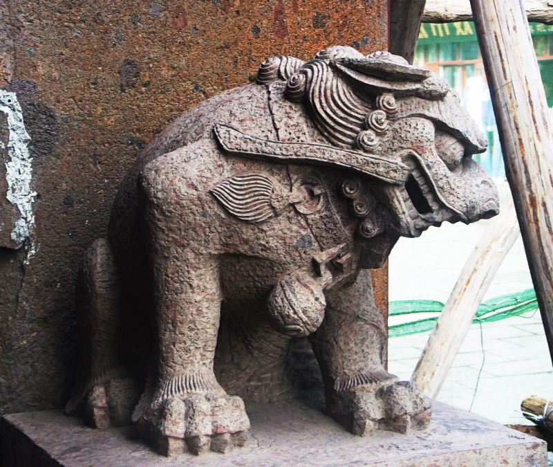 Xingcheng, Ming dynasty, lion, sculpture
