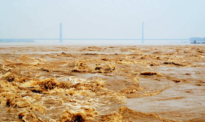 Yellow river, river, bridge