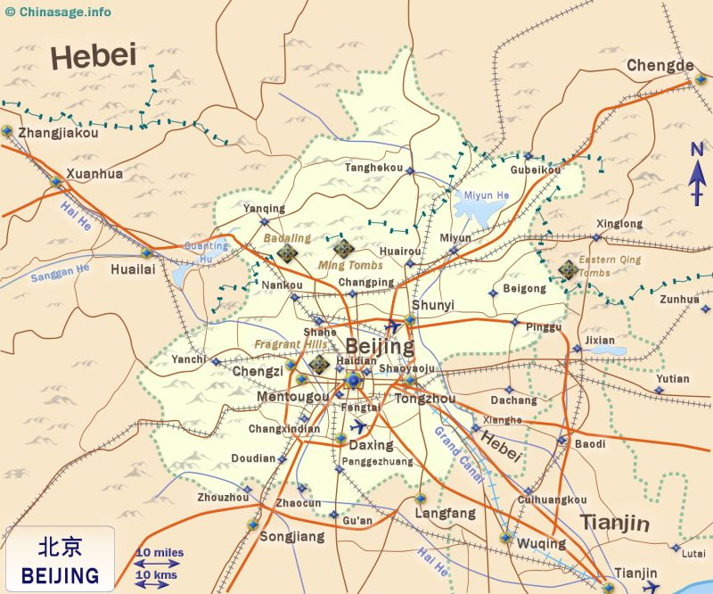 Beijing Capital City of China and municipality
