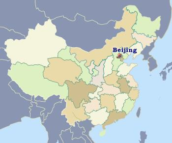 Position of Beijing in China