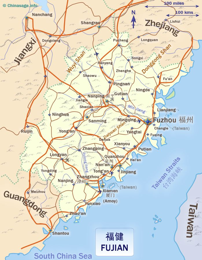 map of fujianchina map fujian map
