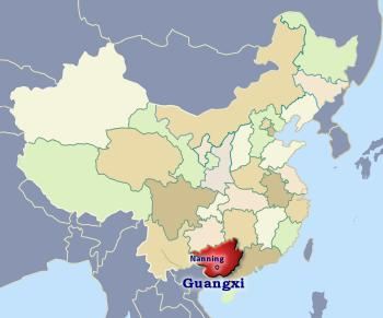 Position of Guangxi in China