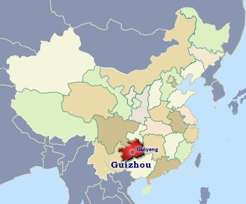Position of Guizhou in China