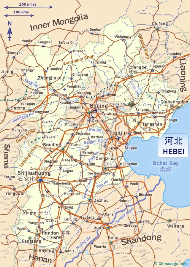 Hebei China - Chengde map