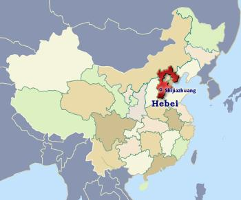 Position of Hebei in China