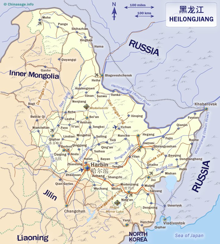 Map of Heilongjiang,China map, Heilongjiang map