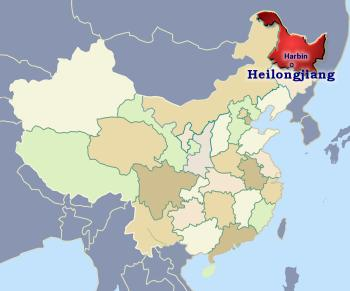 Position of Heilongjiang in China