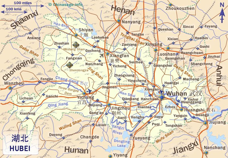 Map of Hubei,Hubei province map