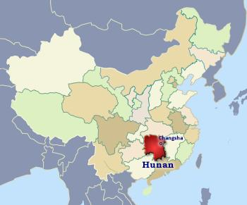 Hunan China Map Hunan province, China