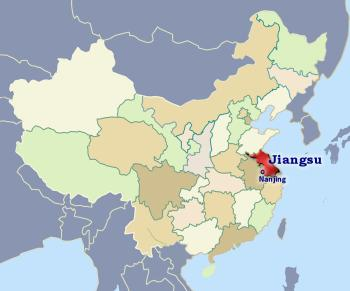 Position of Jiangsu in China