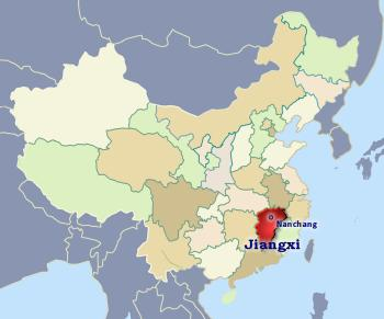Position of Jiangxi in China