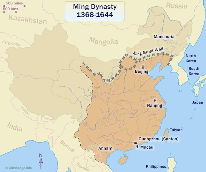 Ming dynasty China map
