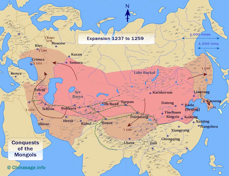 Map of Mongol expansion 1237-59