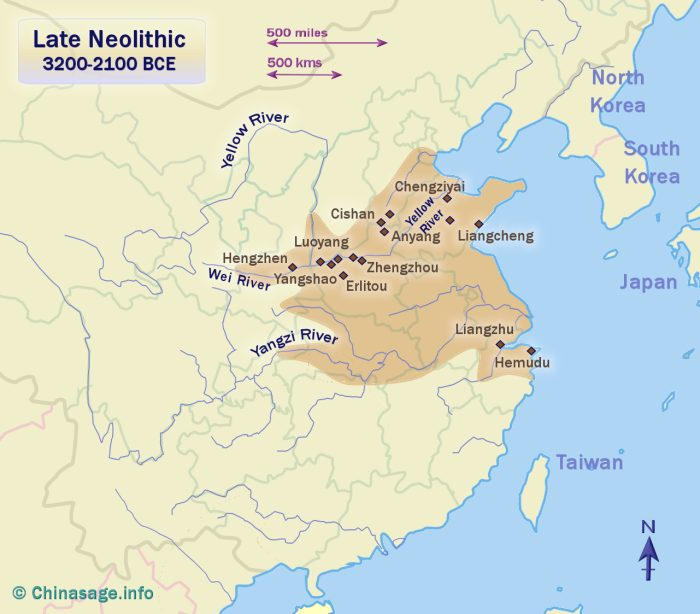 Early Chinese Dynasties Up To 770bce