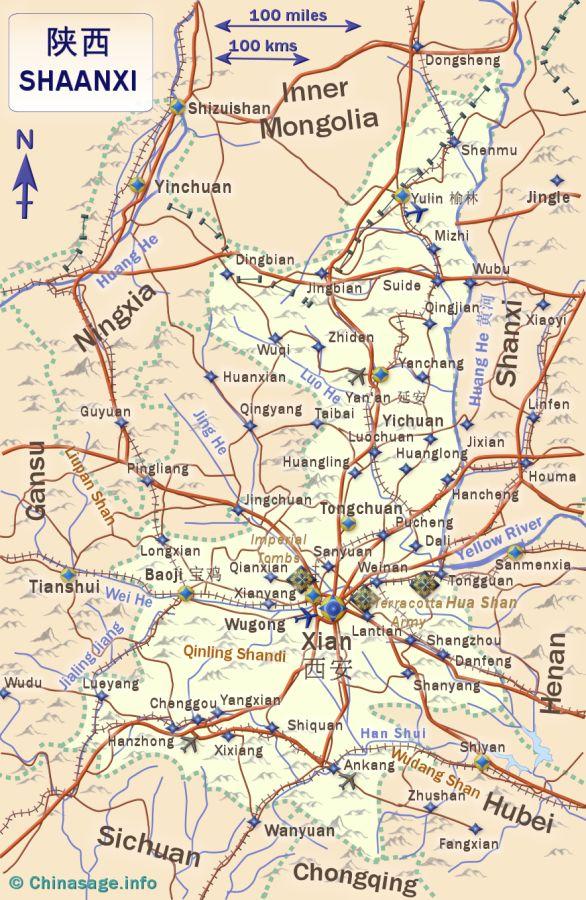 Shaanxi china map of shaanxichina map shaanxi map gumiabroncs Images