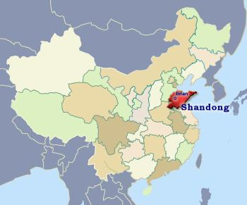 Position of Shandong in China