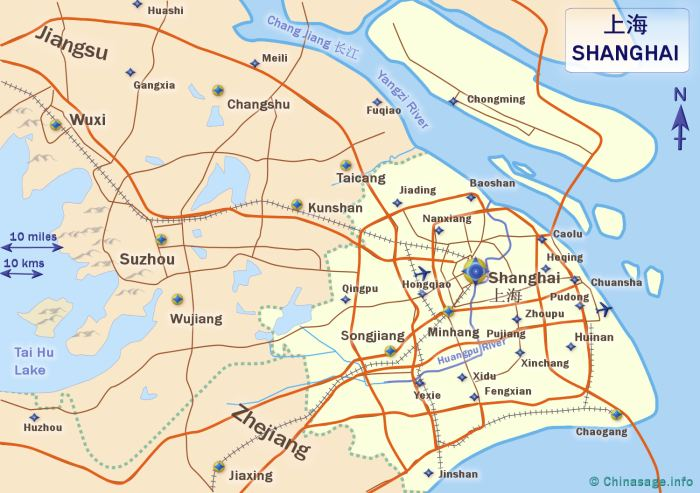 Shanghai city china map of shanghaichina map shanghai map gumiabroncs Gallery